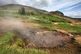 Hot spring near Geysir, Iceland poster