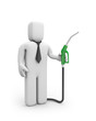 Businessman with gas pump. Business concept
