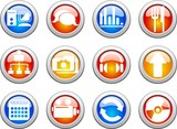 collection of color web buttons