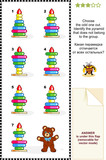 Choose odd one out toy pyramid visual logic puzzle poster