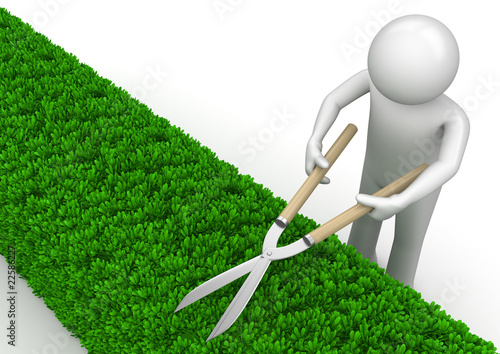 Nature collection - Gardener with garden shears