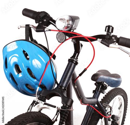 Deurstickers Fietsen bicicletta e casco protettivo
