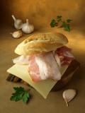 Bocadillo de bacon poster
