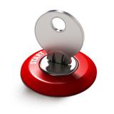Fototapety Ignition key red