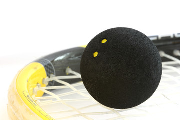 Squash rocket with ball detail