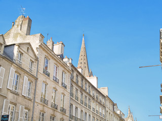 Caen, ciudad artística de Normandía, Francia
