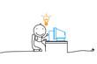 Idea.lamp.computer