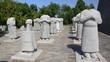 Decapitated sculptures of men statue at Qian Mausoleum