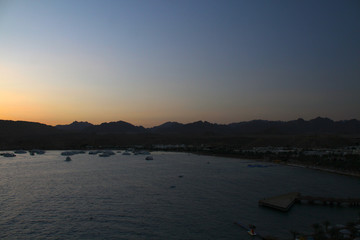 Sunset in Red sea