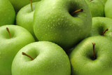 Fresh green apples. Granny Smith. poster