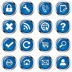 Web Buttonset - Blau