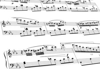 Noten Notenblatt Musik