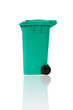 empty recycling bin with reflection