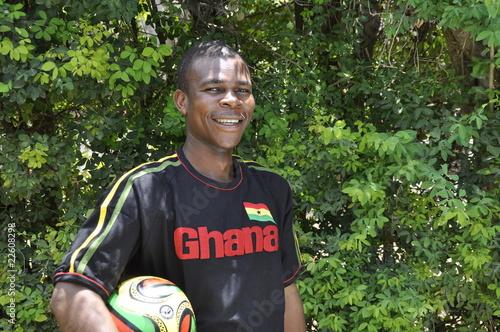 Fussballfan aus Ghana
