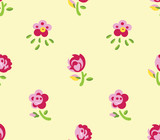 Seamless flowers (yellow background)