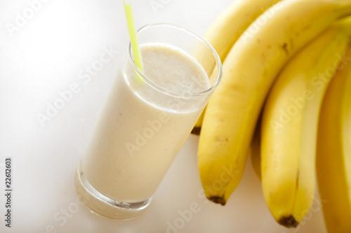 Leinwandbild Motiv Milchshake Banane