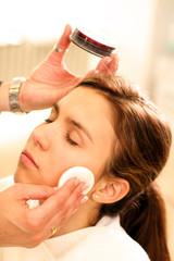 Make up mit Wattepad