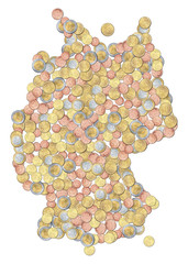 deutschland aus geldstücken