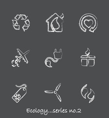 Ecology chalkboard icons...series no.2