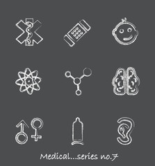 Medical chalkboard icons...series no.