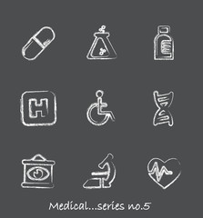 Medical chalkboard icons...series no.5