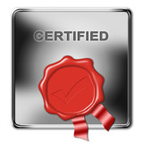 button certified poster