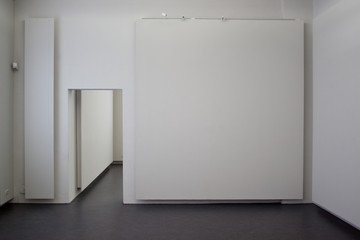 Empty gallery room