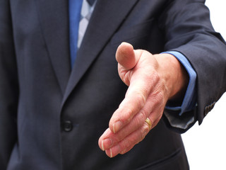 Businessman welcome hand shake