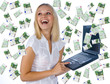 woman having lot of money
