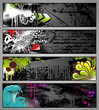 set of four graffiti style grungy urban banners - 22630258
