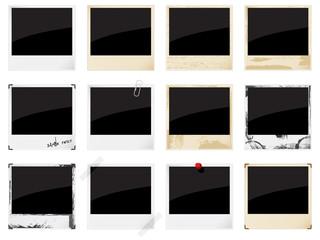 Vector empty instant photo framesf