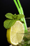 Close-up of Mojito cocktail