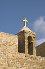 Cross on top of church, old Jaffa, Israel