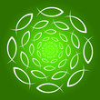 ICHTHYS Mandala grün weiss
