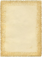 Old paper background with ragged edges