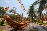Boat at Wat Preah Prom Rath Temple poster