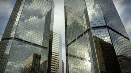 City Skyscrapers Business Buildings Architecture Clouds LOOP