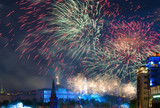 Fototapete Feier - Explodieren - Moskau