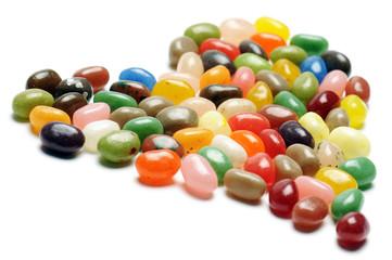 confetti dolci colorati a forma di cuore