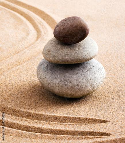 Papiers peints Zen pierres a sable Concept zen