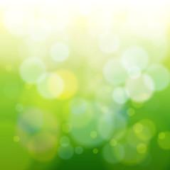 green bokeh abstract light background. Vector illustration