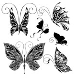 Set of tattoo butterflies 3