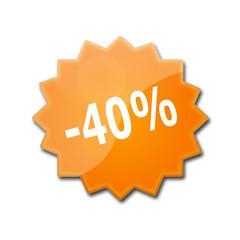 Estrella brillante con descuento del 40%