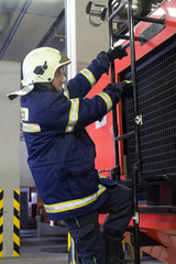 fireman by the work