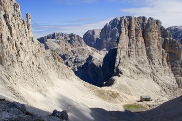 dolomite - vajolet towers - rosengarden gorup - italy