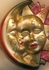 Venice - moon and sun - mask
