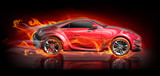 Fototapety Burnout car