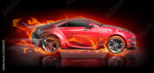 Burnout car