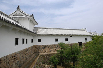 Building at Himeji Castle, Japan