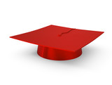 graduation cap isolated on white